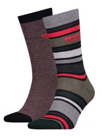 2 Pack de Calcetines Levi´s a rayas olive