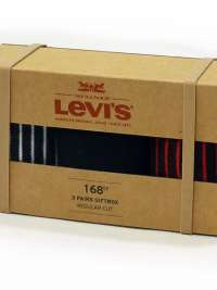 3 Pack Calcetines Levis Giftbox en negro