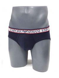 Slip Emporio Armani en algodón en azul marino