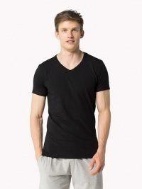Camiseta Tommy Hilfiger negra cuello pico
