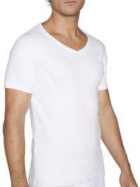 Camiseta Afelpada Ysabel Mora de m. corta y cuello pico