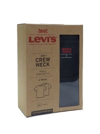 Camiseta Levi's negra en cuello redondo