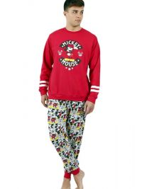 Pijama Admas Mickey Mouse afelpado con puños