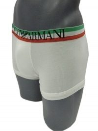 Boxer Armani Flag Blanco