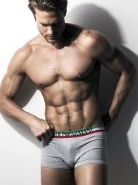Boxer Armani Flag Gris