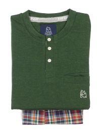 Pijama Kiff-kiff con bolsillo en el pecho en verde