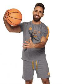 Pijama hombre Muydemi Basket en gris