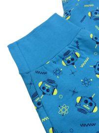 Pijama Muydemi afelpado Robots en azul con puños