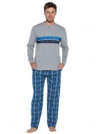 Pijama Punto Blanco Gravity de Algodón con puños