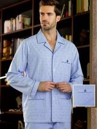 Pijama Guasch Tela Algodón Azul