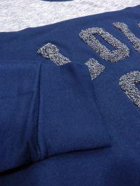 Pijama Lois afelpado en azul jaspeado