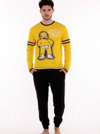 Pijama de hombre Homer Simpson con puños