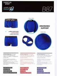 Boxer Impetus Sport Airflow Ergonomic Corto en negro