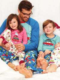 Pijama Hombre Little Blue House Retro Festive
