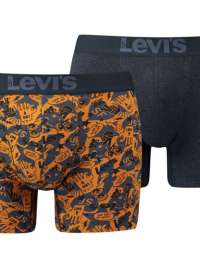 2 Pack Boxers Levi´s 200 Series Navy Yellow