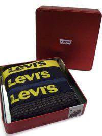 3 Pack Boxers Levi´s Caja Ed. Navidad Amarillo