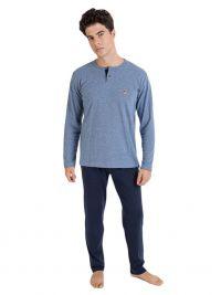 Pijama Massana con topitos en azul y tapeta