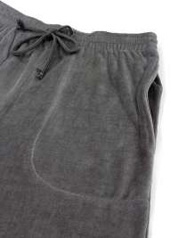 Pijama Massana Terciopelo Listado Gris con puños