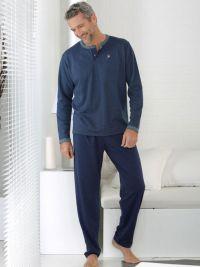 Pijama Massana con topitos y tapeta con botones
