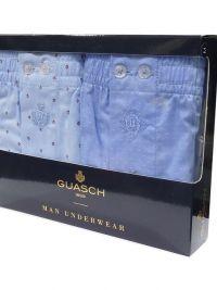 Boxer Guasch de tela con topitos en azul. Pack de 2 ud.