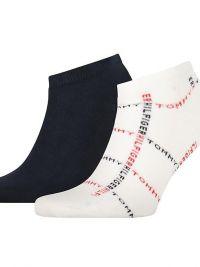 Pack de Calcetines Tobilleros Tommy Hilfiger con logo en blanco y marino