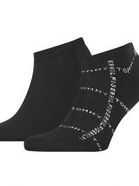 Pack de Calcetines Tobilleros Tommy Hilfiger con logo en negro