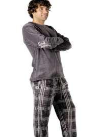 Pijama Pettrus Man Térmico Polar Gris