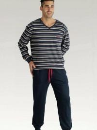 Pijama Pettrus Algodón Rayas con Puños