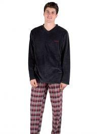 Pijama Pettrus Man en Terciopelo y cuello pico