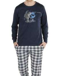 Pijama Pettrus Man Space Combinado con Puños