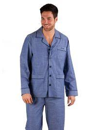 Pijama Pettrus Man de Tela en Algodón en azul jeans