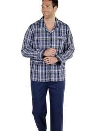 Pijama Pettrus Man en tela cuadros combinado