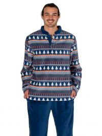Pijama Pettrus Man Térmico Polar en azul