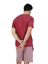 Pijama Admas punto de algodón burdeos