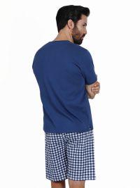 Pijama Admas con Zapatillas engomadas en azul