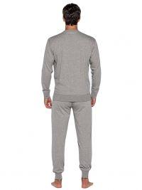 Pijama Punto Blanco Organix de Algodón en gris con puños