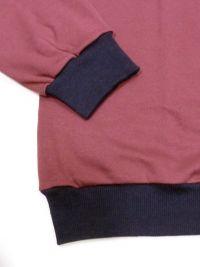 Pijama Alpina en burdeos con puños elásticos (hasta 4XL)
