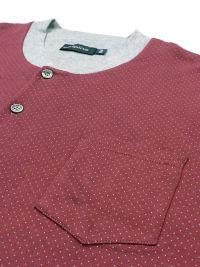 Pijama Alpina con bolsillo en el pecho y puños elásticos