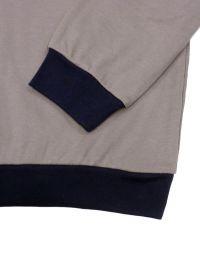 Pijama Alpina afelpado gris visón con bolsillo en el pecho y puños