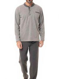 Pijama Alpina Térmico Polar en gris con puños