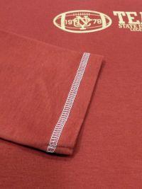 Pijama Barandi en algodón en rojo burdeos