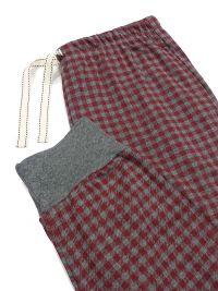 Pijama Barandi en algodón con puños en granate