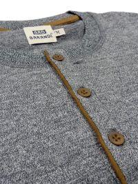 Pijama Barandi en algodón con puños en gris jaspeado