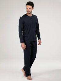 Pijama Blackspade de Algodón - Modal en azul marino