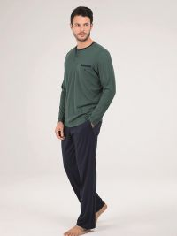 Pijama Blackspade de Algodón - Modal en verde botella