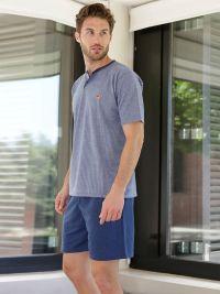T.E. - Pijama Massana Hombre azul con rayas y tapeta