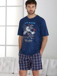 Pijama Massana de verano con aviones y pantalón de tela