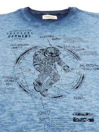 Pijama Massana azul jaspeado con Astronauta