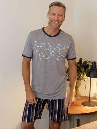 Pijama Massana azul con cuello redondo