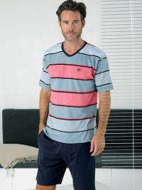 Pijama Massana de verano con cuello pico a rayas